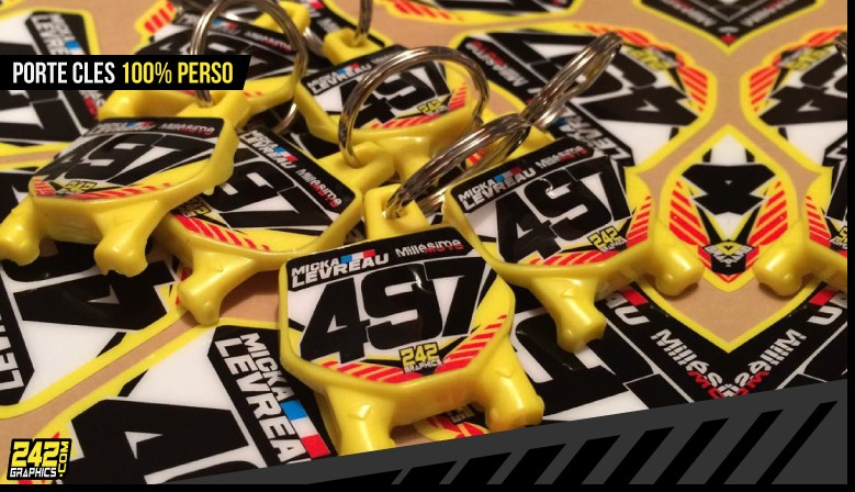 Porte clés miniplaque motocross perso 242graphics