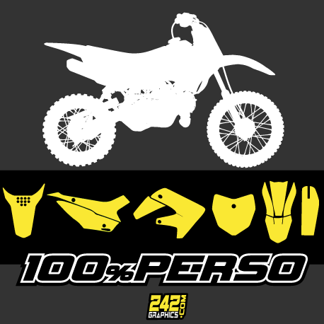 kit déco perso pitbike minibike bucci ycf pitsterpro klx crf