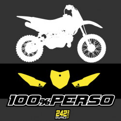 FONDS DE PLAQUE - PITBIKE 100% PERSO
