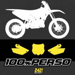 FONDS DE PLAQUE - MOTOCROSS 100% PERSO