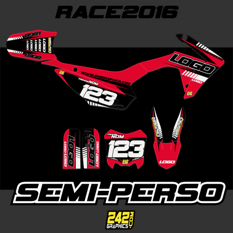 kit déco semi perso pitbike 242graphics