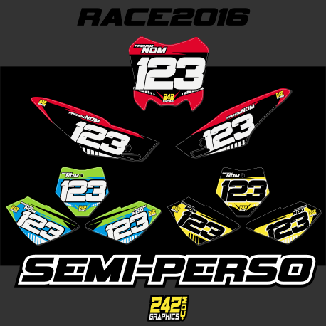 KIT DECO COMPLET PITBIKE - SEMI PERSO
