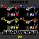 kit deco semi perso pitbike doodle lxrf ycf 242graphics