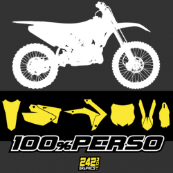kit déco autocollant perso motocross 242graphics