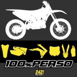 kit déco autocollant perso motocross 242graphics