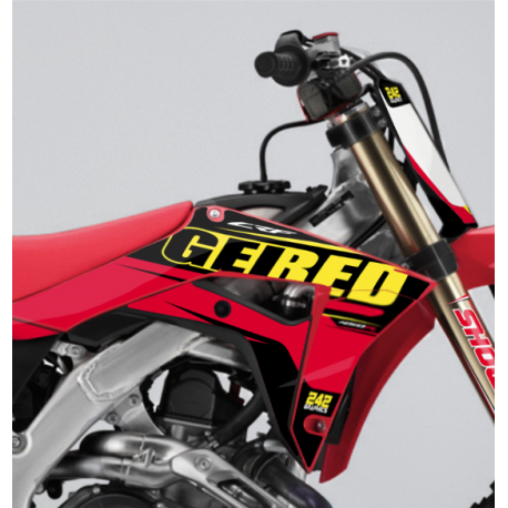 kit deco honda crf geired motocross semi perso 242graphics