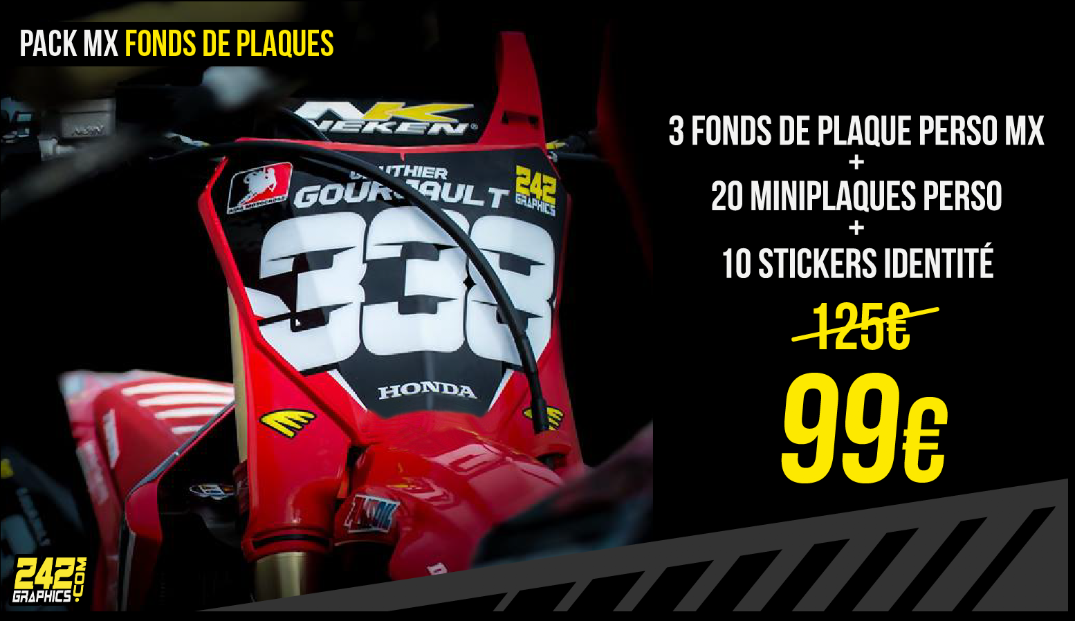 Pack MX fonds de plaque, 99€ au lieu de 125€ !
