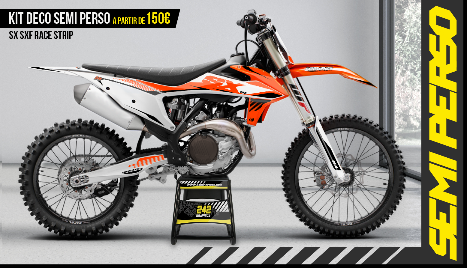 Kit déco perso ktm sx sxf race strip by 242graphics