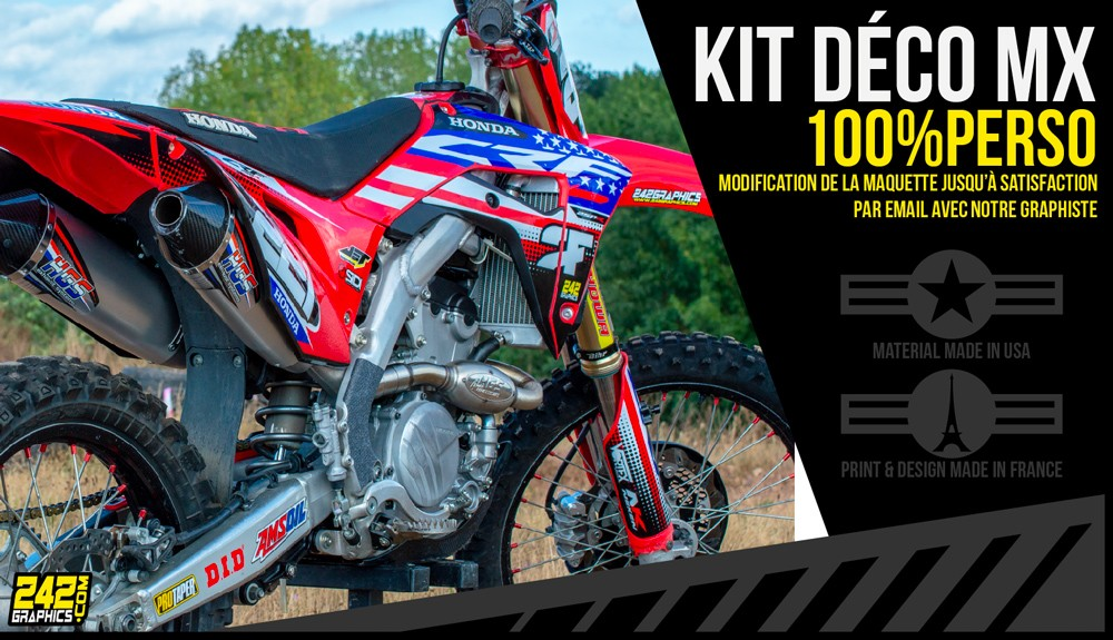 Kit déco pitbike motocross 100% perso