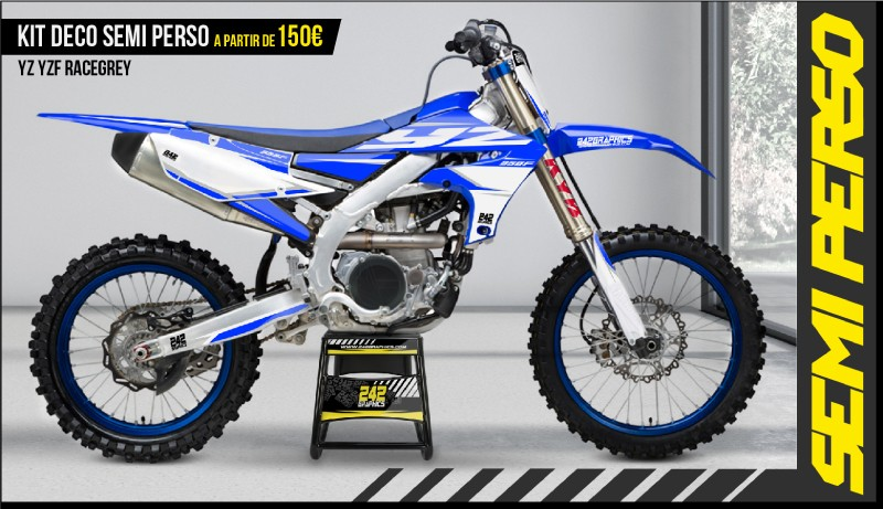 Kit déco perso yamaha yz yzf racegrey by 242graphics