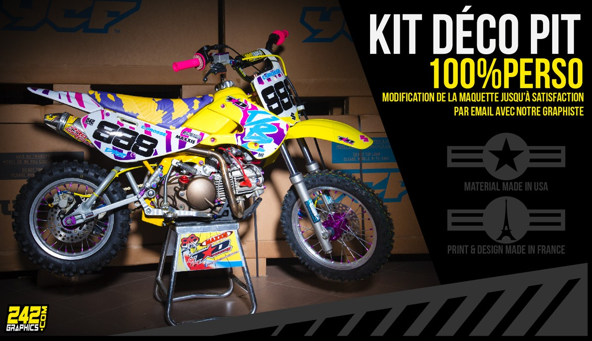 Kit déco pitbike minibike 100% perso