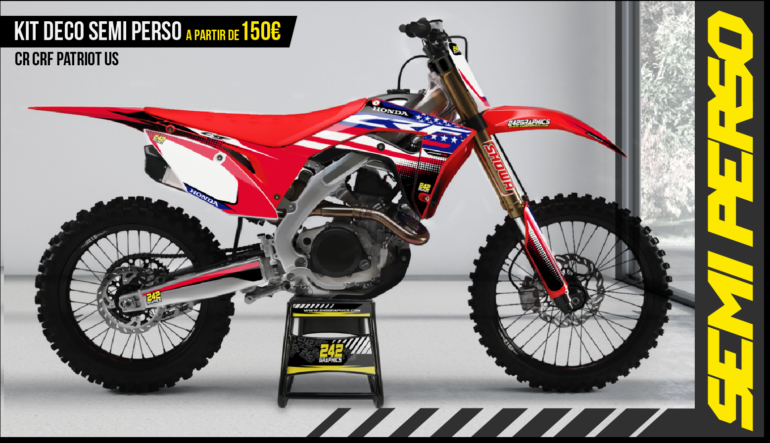 Kit déco perso honda cr crf patriot us by 242graphics